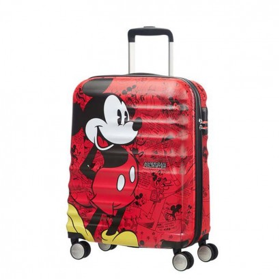 Samsonite 4-Wheel Spinner Wavebreaker Mickey Comics Red АТ 55 cm