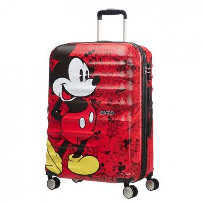 Samsonite 4-Wheel Spinner 77cm Wavebreaker Mickey Comics Red АТ