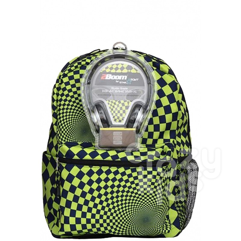 Samsonite AmericanKids Backpack Hypnocheck Lime with Headphones