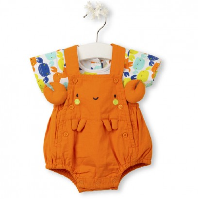 "Tuc Tuc Baby overalls with t-shirt ""CRABS"""