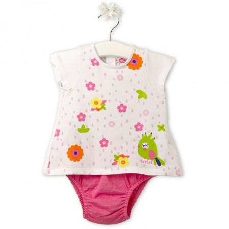 "Tuc Tuc Baby two-piece set for girl ""BIRD TROPIC"""