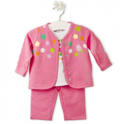 "Tuc Tuc Baby three-piece set for girl ""BIRD TROPIC"""