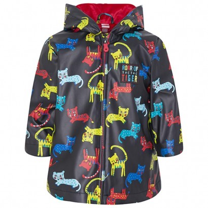 Boys Tiger Print Raincoat Tuc Tuc