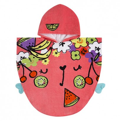 Baby Girl Hooded Poncho TucTuc Fruit Festival