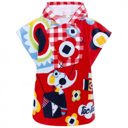Baby Girl Hooded Poncho TucTuc Pirates