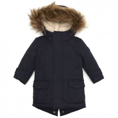 Boys Jacket with Faux Fur Hood Baby A