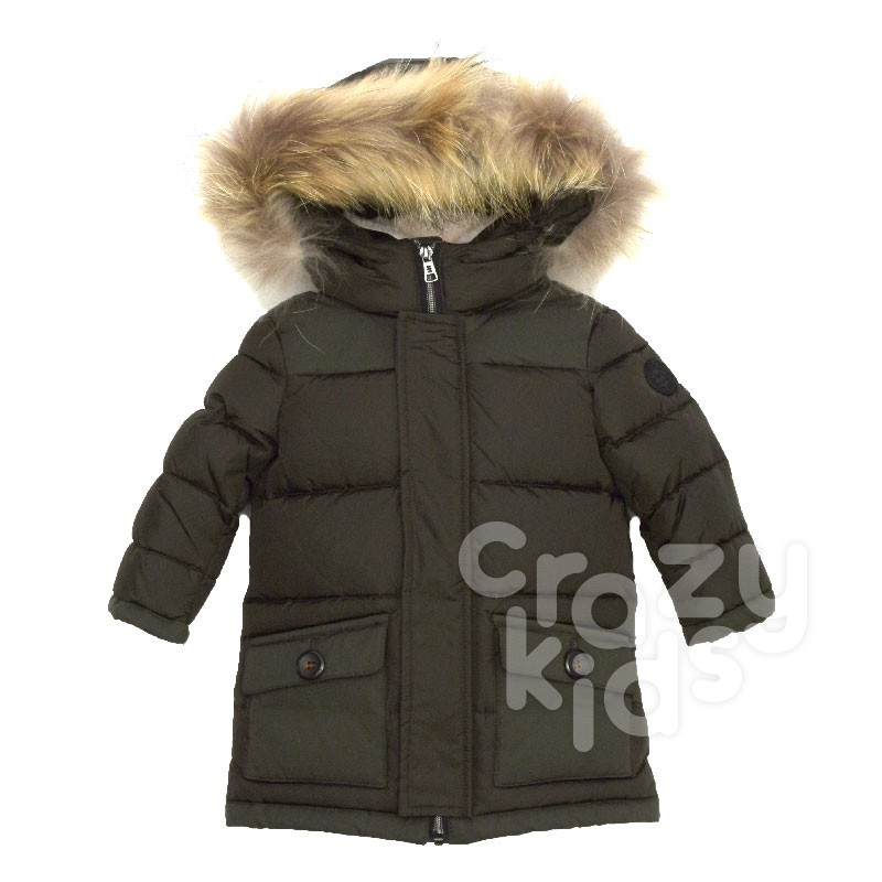 Boys Jacket with Fur Hood Baby A