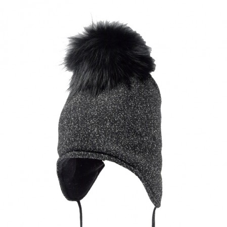 Kids Trapper Hat with Pom pom Racoon Trestelle Peruan