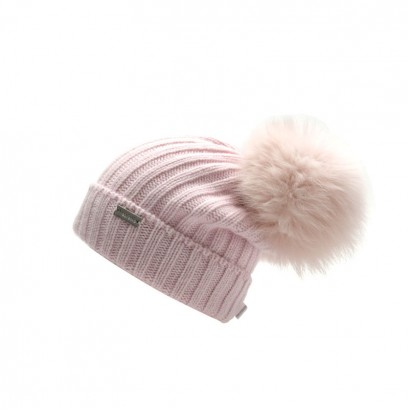 Girls Knitted Hat with Fox Pom pom Trestelle