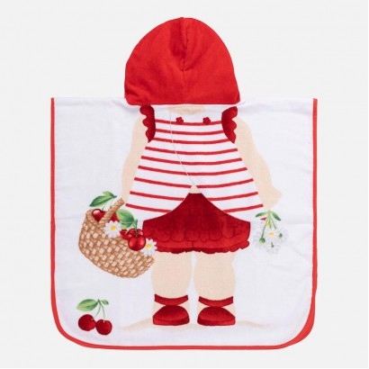 Baby Girl Applique Hooded Towel Mayoral
