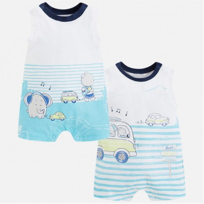 Baby Boy Set of two Rompers Mayoral