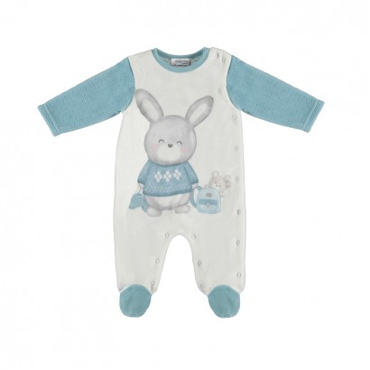 Baby boy overall with print Mayoral