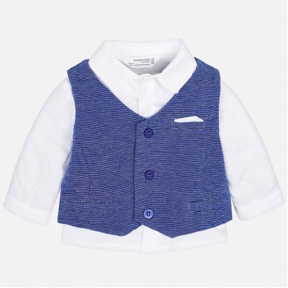 Baby Boys Shirt and Waistcoat Set Mayoral