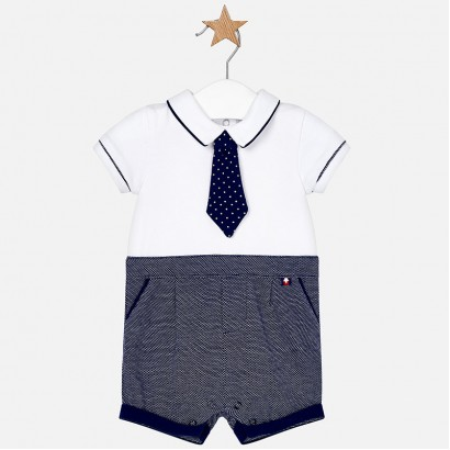 Babygrow with Tie for Boys Mayoral