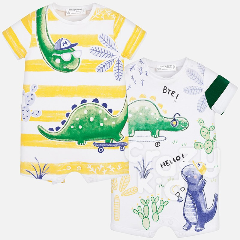 77d3736c1f6 Baby Boys Set of 2 Rompers Mayoral