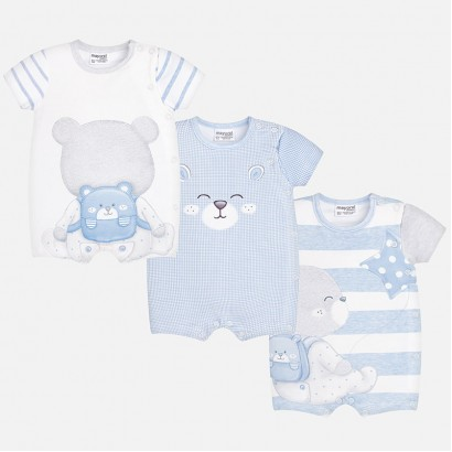 Baby Boys Set of 3 Rompers Mayoral
