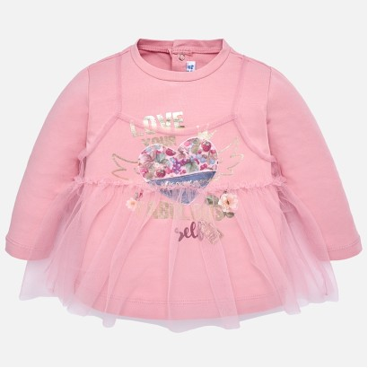 Baby Girls Mixed Tulle Dress Mayoral