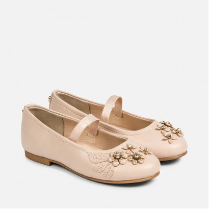 Girls Ballet Flats with Flowers Mayoral