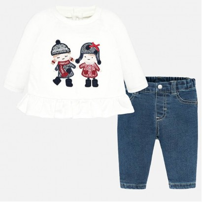 Baby set with jeans Mayoral