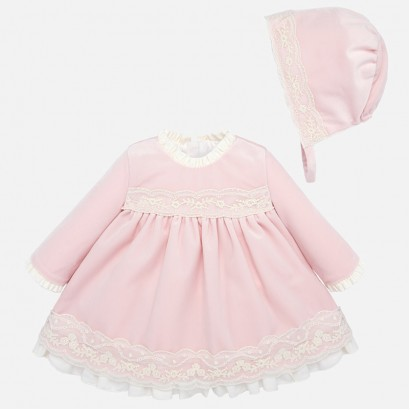 Formal Baby dress with hat Mayoral