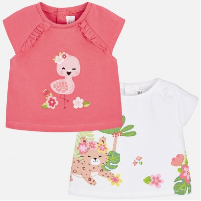 Baby Girl Set of 2 T-shirt Mayoral