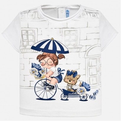 Baby Girls Patterned Short Sleeve t-shirt Mayoral