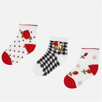 Baby Girls Set of 3 pairs of Socks Mayoral