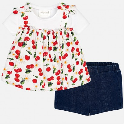 Baby Girl Blouse and Shorts Mayoral