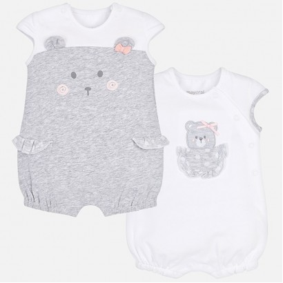 Baby Girls Set of 2 Rompers Mayoral