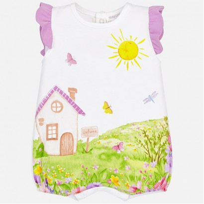 Baby Girls Printed Babygrow Mayoral