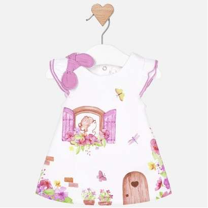 Baby Bow detailed Dress Mayoral