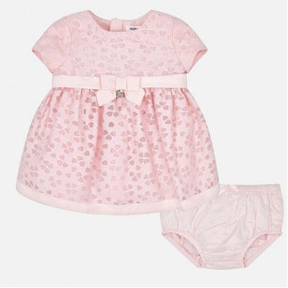 Baby Satin Dress with Bloomers Mayoral