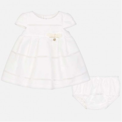 Baby Polka Dot Print Dress with Bloomers Mayoral