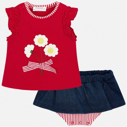 Baby Girl Blouse and Skirt Set Mayoral