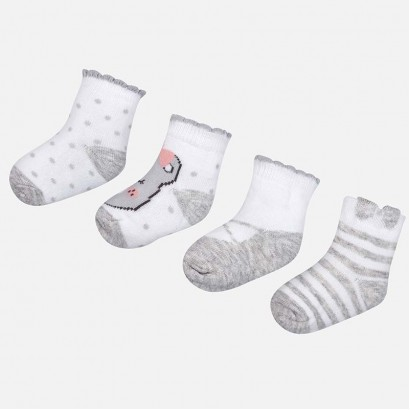 Baby Girls Set of 4 Pairs of Socks Mayoral