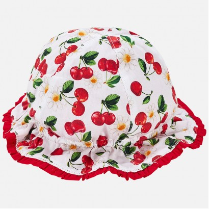 Baby Girls Cherry Printed Summer Hat Mayoral