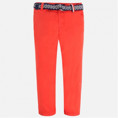 Children's cotton pants Mayoral with a belt for boy