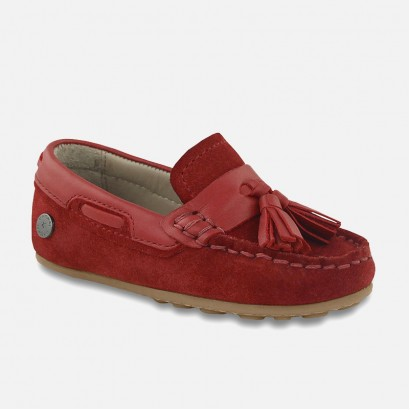 Boys Split Leather Moccasins Mayoral