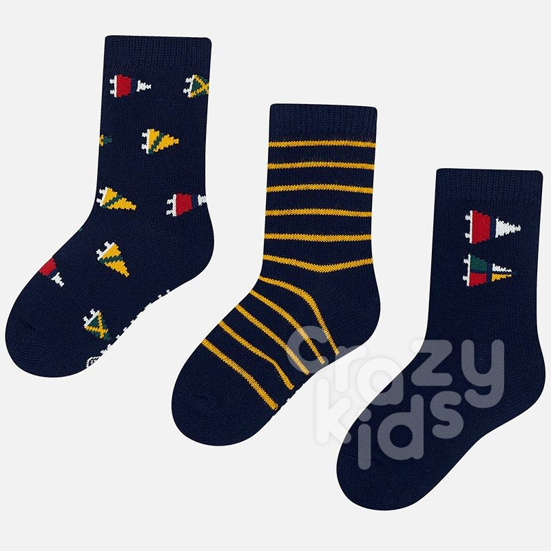 A set of 3 pairs of boy's socks Mayoral Flags
