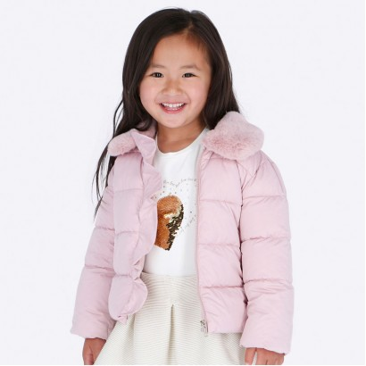 Kid's jacket with fluffy collar Mayoral