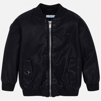 Kid's jacket Mayoral of artificial leather bomber type