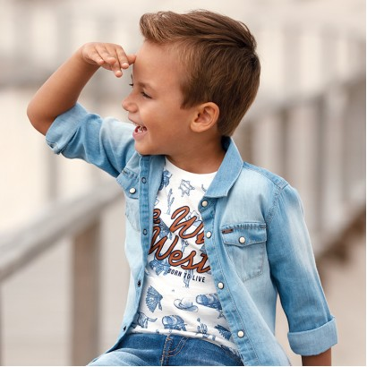 Boys Wild West T-shirt Mayoral