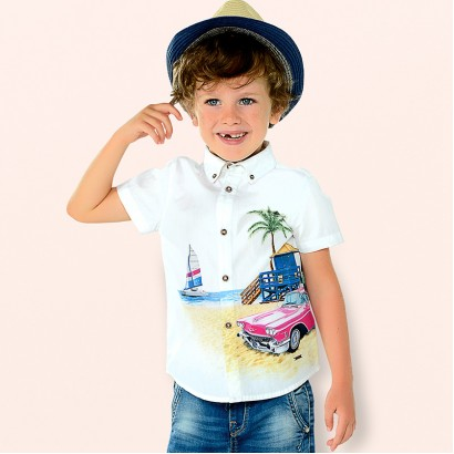 Boys Printed Short Sleeved Shirt Mayoral