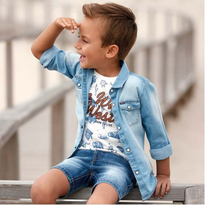 Boys Denim Shirt Mayoral
