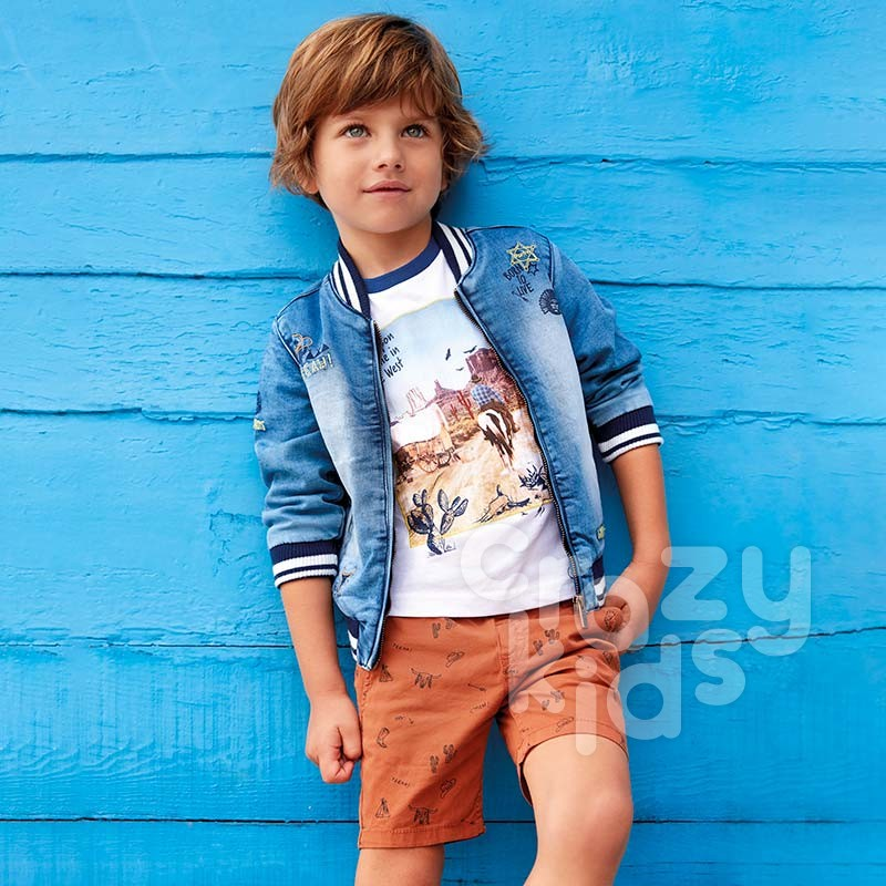 Boys Micro-Printed Shorts Mayoral