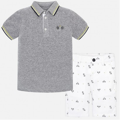 Boys Polo and Shorts Set Mayoral