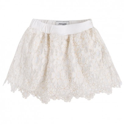 Girls Guipure Lace Skirt Mayoral