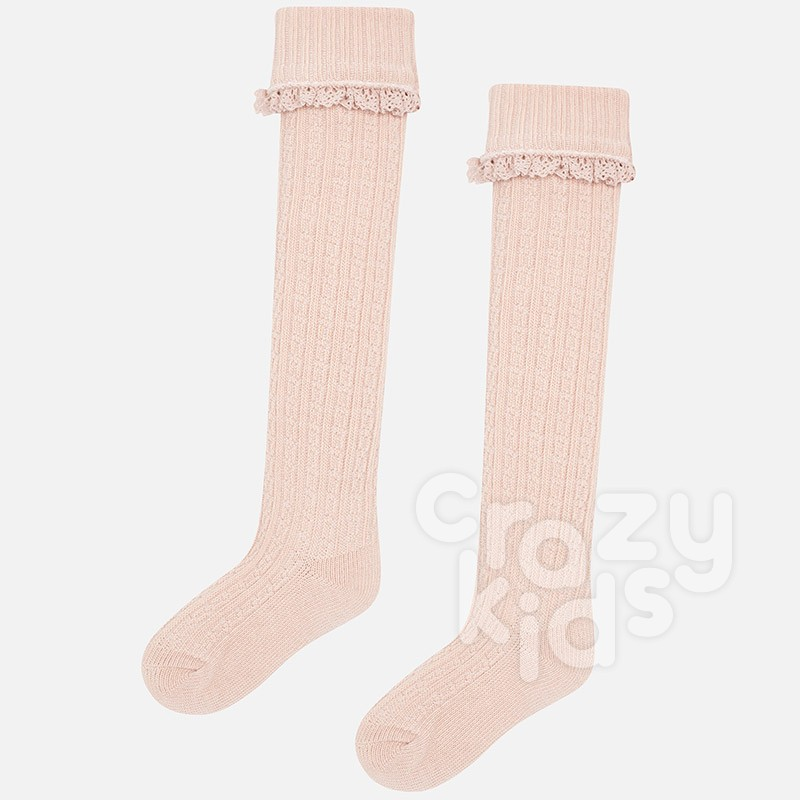 a6d8927e6 ... Girls Cable Knit Knee High Socks Mayoral ...