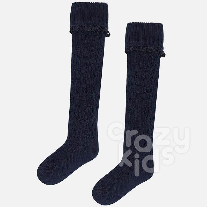 Girls Cable Knit Knee High Socks Mayoral