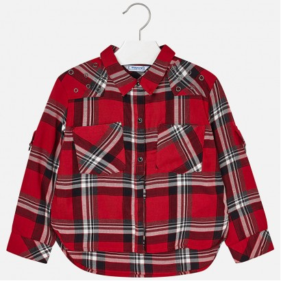 1920ac7fe Girls Plaid Long Sleeve Shirt Mayoral